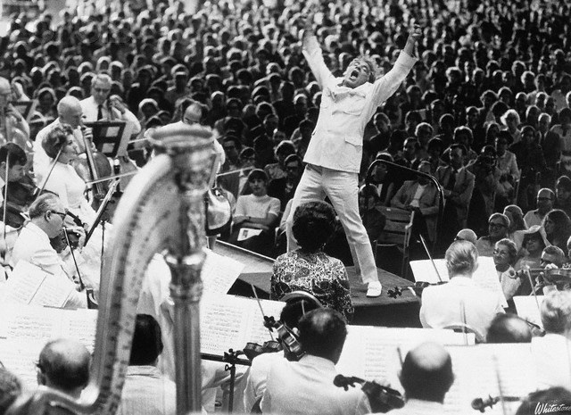 Leonard Bernstein Conducting Boston Symphony
